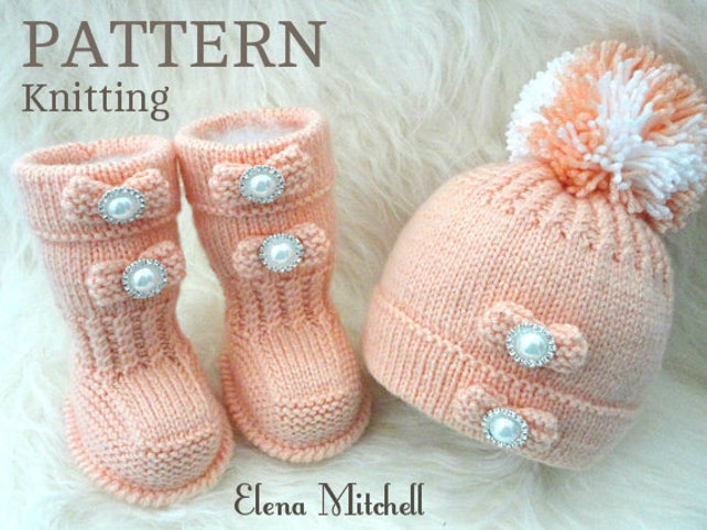 Imgenes De Knitting Patterns For Baby Booties And Hats