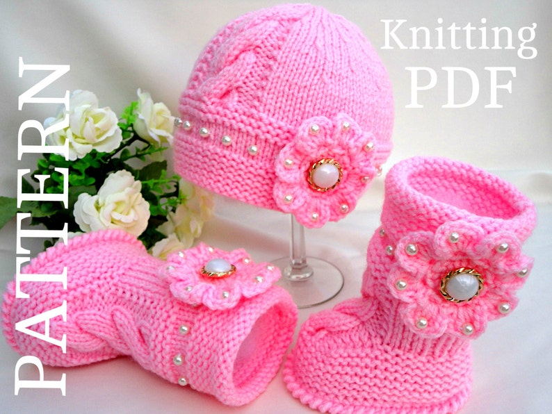 Knitting PATTERN Baby Booties Baby Shoes Patterns Knit Baby image 0