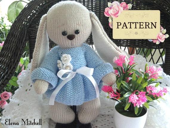 Knitting Pattern Bunny Rabbit Toy Animal Pattern Knitted Bunny Etsy