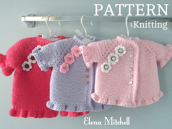 ea86d15f1 Knitting PATTERN Baby Jacket Knitted Baby Sweater Baby Girl