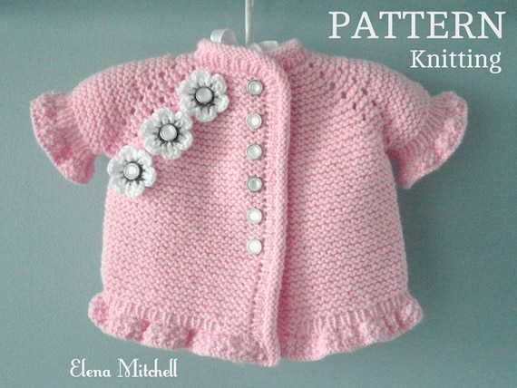 Knitting Pattern Baby Jacket Knitted Baby Sweater Baby Girl Etsy