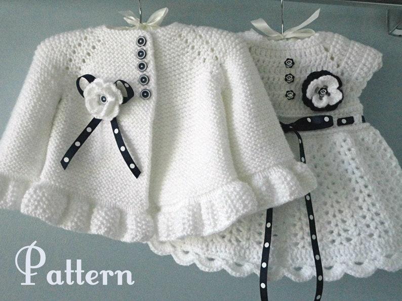 242bb6c3223e Knitting PATTERN Baby Jacket Crochet PATTERN Baby Dress Baby
