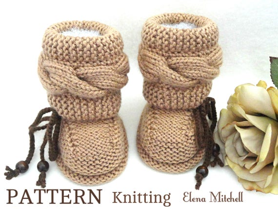 Knitting P A T T E R N Baby Booties Baby Shoes Knitted Baby Etsy Best Baby Booties Knitting Pattern