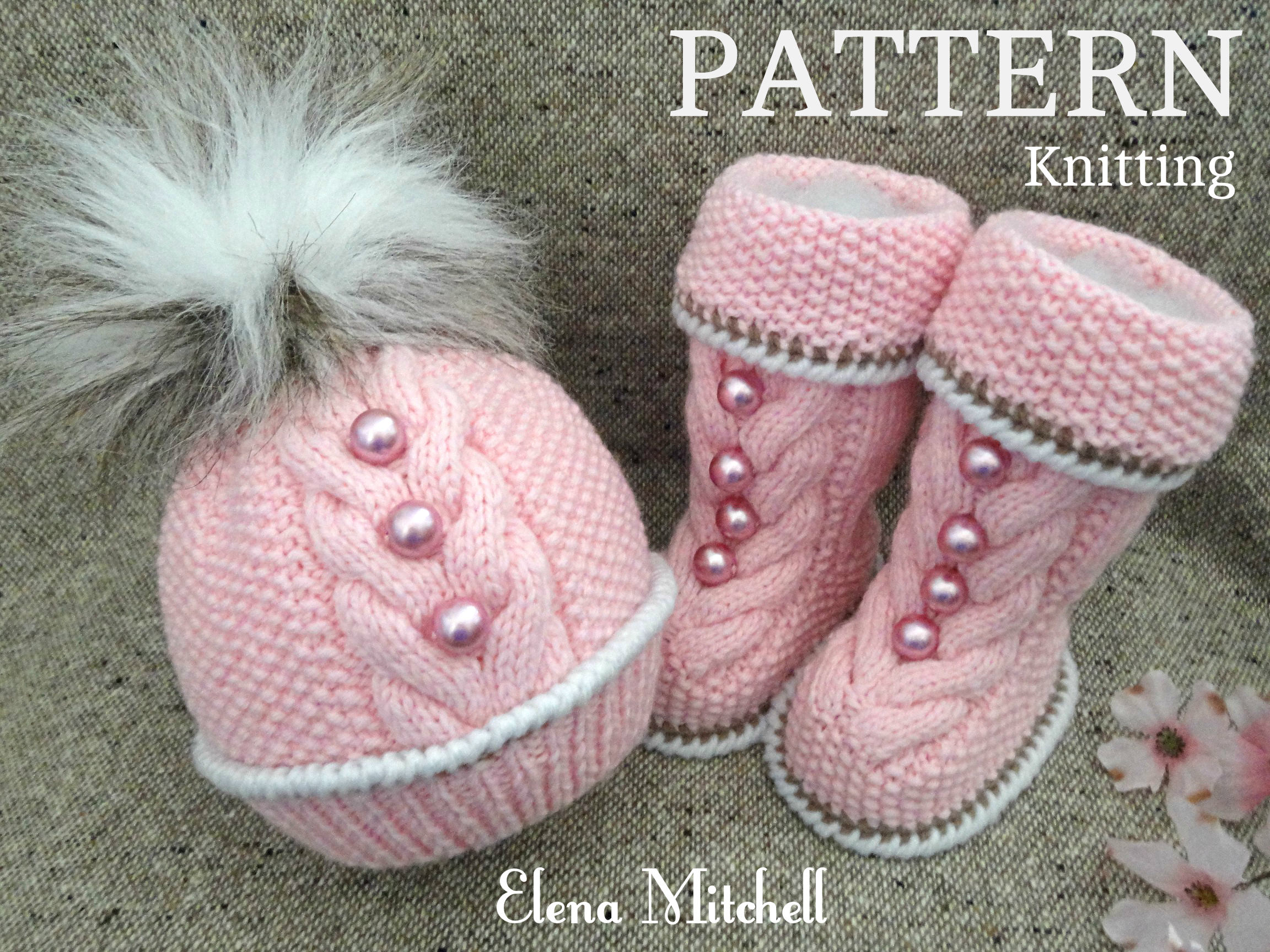 Baby Knitting PATTERN Knitted Baby Set Baby Beanie Baby Shoes ...