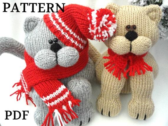 Knitting Pattern Animal Knit Pattern Cat Animal Patterns Etsy