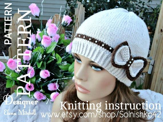 Knitting Pattern Beanie Girls Hat Pattern Toddler Beanie Etsy