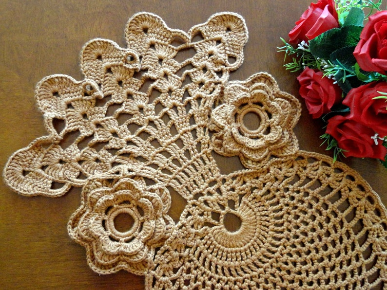 Free Crochet Pattern Vintage Pattern Crochet Placemat Crochet Etsy