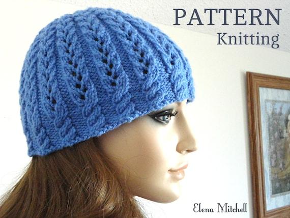 Knitting PATTERN Girls Beanie Women Hat Children Hat Knit  63adf8dc6b