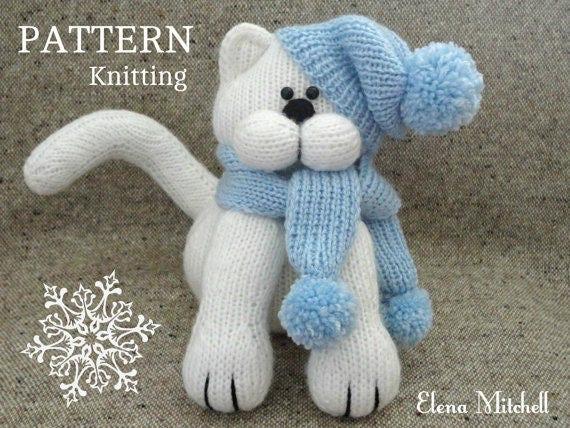 Knitting Pattern Animal Knit Pattern Cat Animal Patterns Children