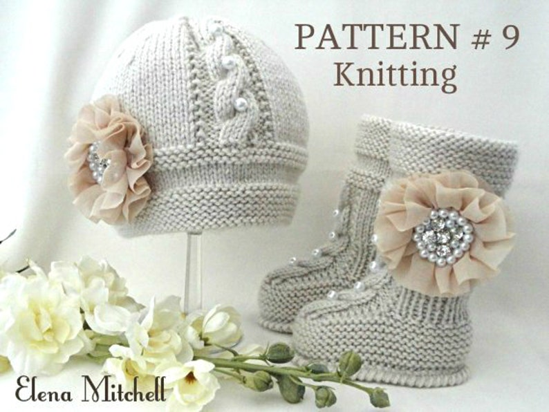 a99b90f20f80 Knitting PATTERN Baby Set Knitted Baby Hat Baby Shoes Infant
