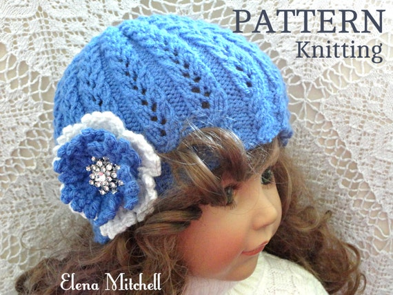 Knitting Pattern Girls Beanie Women Hat Accessories Children Etsy