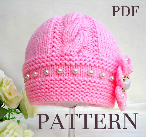 Baby Hat P A T T E R N Knitting Baby Hat Baby Patterns | Etsy