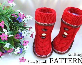 Knitting PATTERN Baby Booties Knitting Patterns Baby Shoes Baby Uggs Knitted Baby Booties Knitted Baby Boots Baby Boy Baby Girl Booty PDF