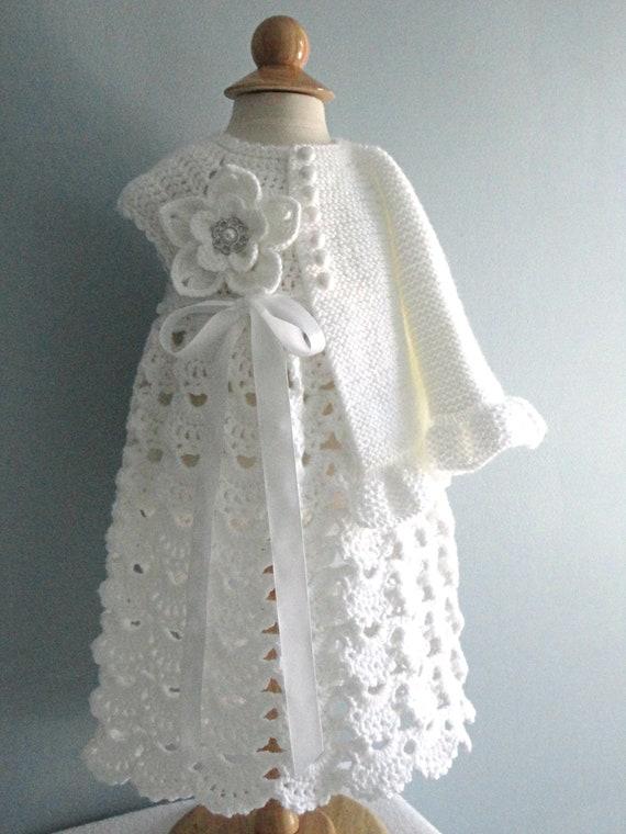 Knitting PATTERN Baby Jacket Crochet PATTERN Baby Dress Baby | Etsy