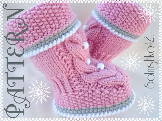 Knitting Pattern Baby Booties Baby Shoes Pattern Knitted Baby Etsy