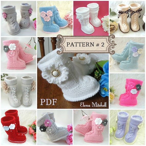 P A T T E R N Baby Booties Baby Girl Shoes Pattern Knitted | Etsy