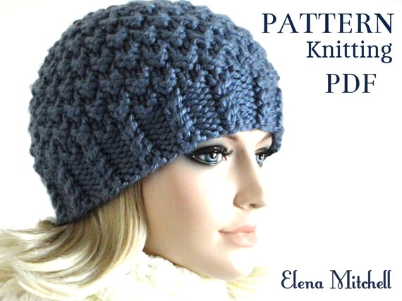 Knitting Pattern Hat Knit Beanie Pattern Women Hat Pattern  47af7f9bb