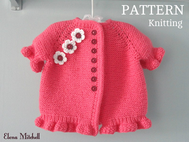 679bfc2f3 Knitting PATTERN Baby Jacket Knitted Baby Sweater Baby Girl