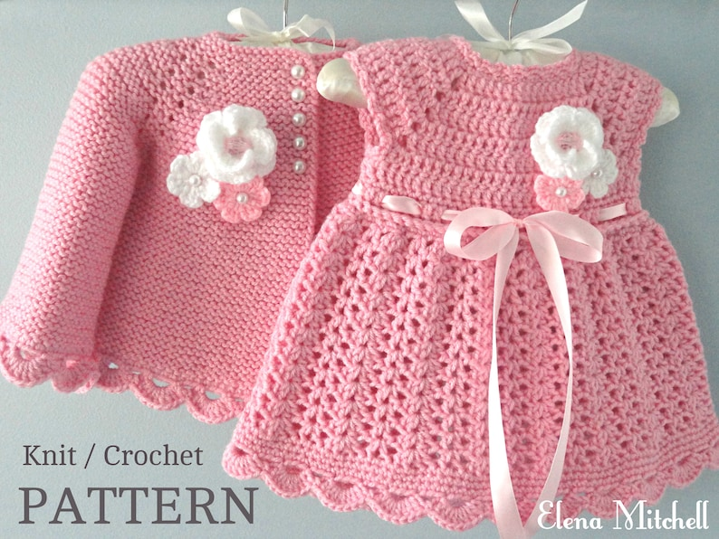 f87596aacd9af Knitting PATTERN Baby Jacket Crochet PATTERN Baby Dress Baby Cardigan Baby  Girl Pattern Baby Outfit Newborn Baby Girl Clothes Pattern PDF