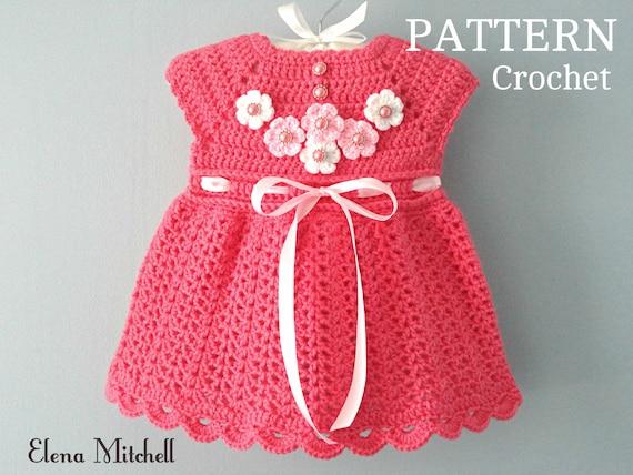 f245d4db2d094 Crochet PATTERN Baby Dress Baby Girl Pattern Crochet Newborn Outfit Infant  Dress Pattern Baby Girl Clothes Crochet Baby Dress PATTERN PDF