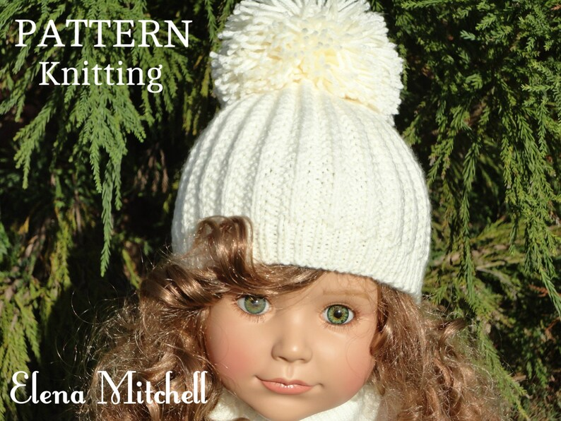 956f61941c5 Knitting PATTERN Girls Beanie Women Hat Accessories Children