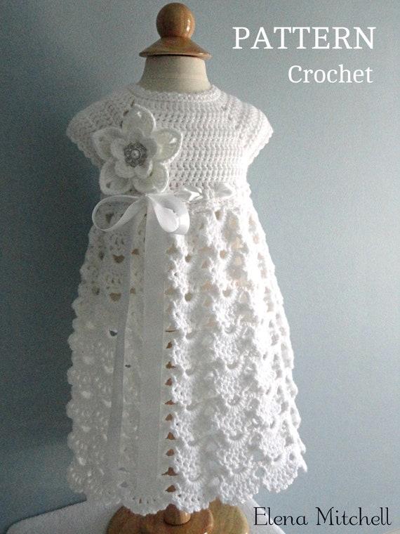 Crochet PATTERN Baby Dress Baptism Dress Pattern Crochet   Etsy