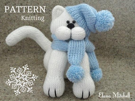 Knitting Pattern Animal Knit Pattern Cat Toys Patterns Etsy
