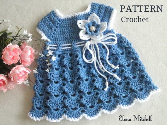 Crochet Pattern// PDF Download English Crochet Pattern for crochet baby dress 5