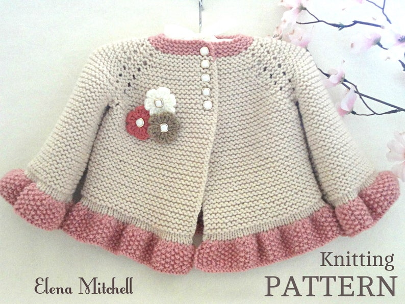 Handmade Knitted //Crochet Light Pink Baby Cardigan Coat //Jacket Baby Gift