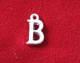 "BULK! 30pc ""B"" charms in antique silver style (BC670B)"
