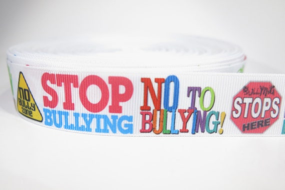 "Bullying Awareness 7//8/"" grosgrain ribbon the listing is for 5 yards total"