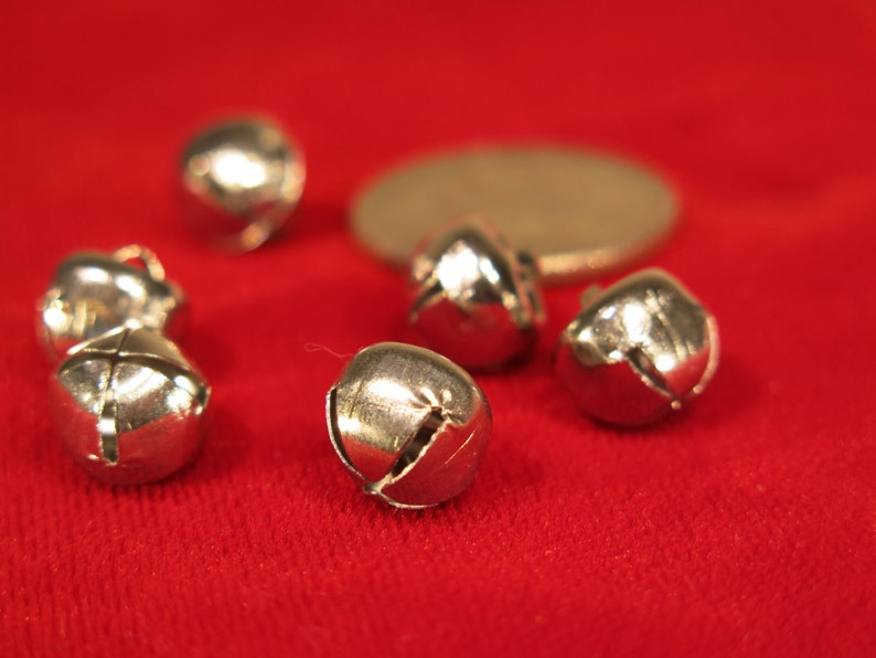 BULK 100pc bell charms in antique silver style