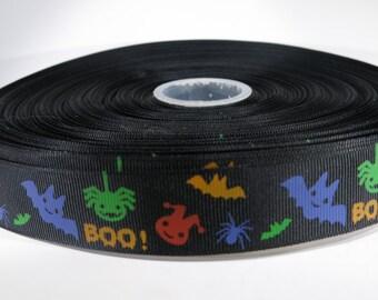 "5 yards of 1 inch ""Halloween"" grosgrain ribbon"