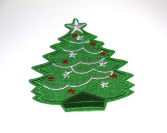 "Iron-on ""christmas tree"", applique, application (P49)"