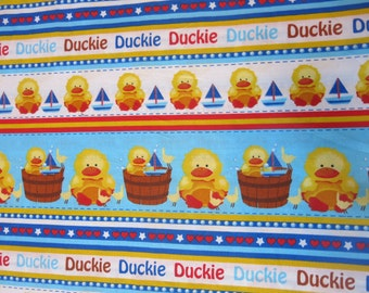 "1/2 yard of 100% cotton Duckie ""in the tub"" Fabric"