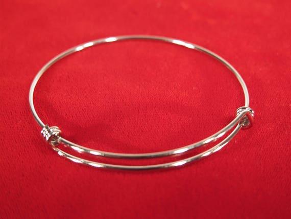 bracelet jonc 10pc 65mm en acier inoxydable (JC150B)
