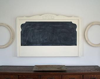 Chalkboard Headboard, Large Wall Hanging Chalkboard, Up Cycled Bed Headboard, Farmhouse Chalkboard, Farmhouse Wall Decor, Unique Chalkboard
