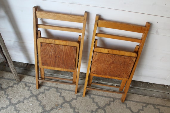 Admirable Pair Of Childrens Wooden Folding Chairs Small Wooden Folding Chairs Childrens Wooden Folding Chairs 1950S Kids Wooden Folding Chairs Cjindustries Chair Design For Home Cjindustriesco
