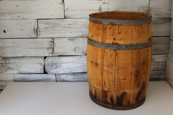 Antique Barrel Wooden Sausage Barrel Medium Wooden Barrel Etsy