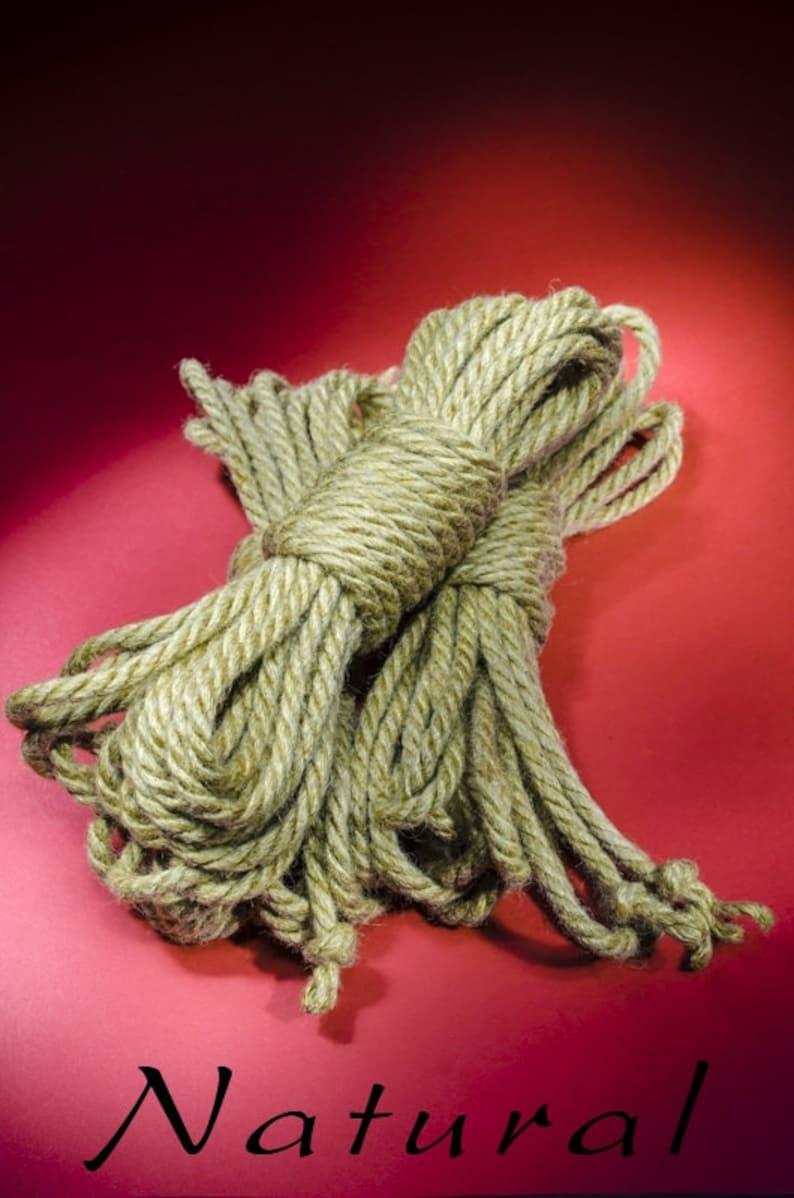 Jute Rope Kit for Shibari / Kinbaku  Natural image 0