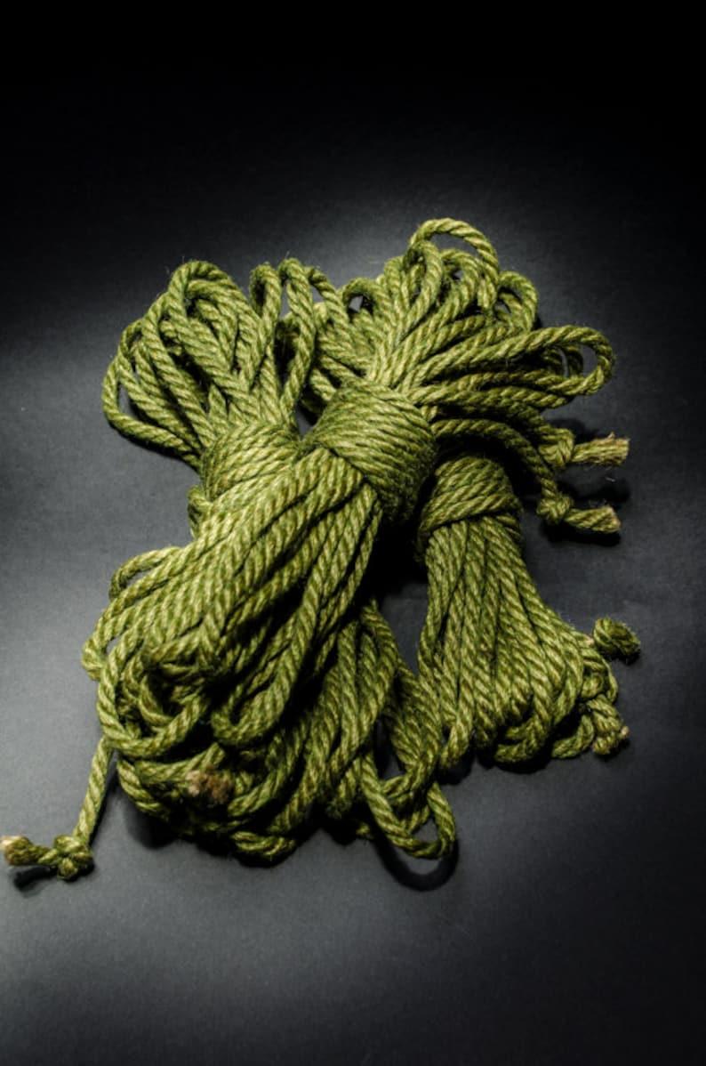 Jute Rope Kit for Shibari / Kinbaku  Avacado Green image 0