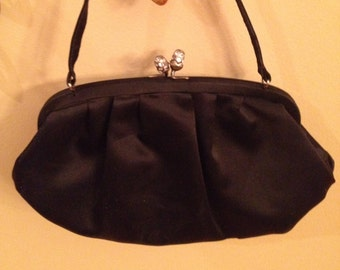 04d3b343596c Vintage Handbag By Triangle New York Black Kelly With