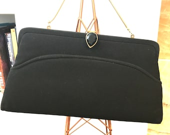 46b01e9681b6 Vintage Mr Bonhomme Black Silk Blend Formal Evening Bag. ItsallforHim  19.99