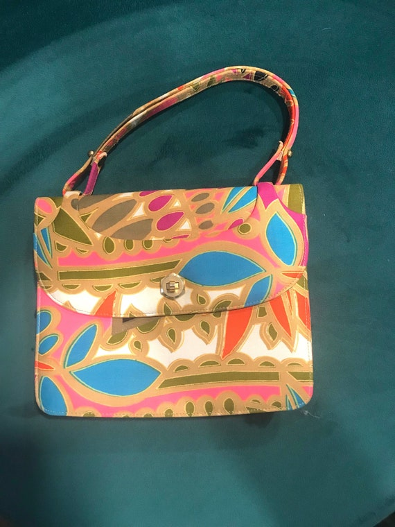 3a9267a76bfd Vintage Rosart Mod Psychedelic Kelly Style Handbag