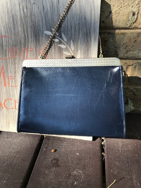 8f673d24596d Vintage HL Harry Levine Black Kelly Style Clutch Handbag