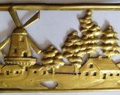 Solid Brass Windmill Banding- Stamped and Perforated - Vintage circa 1980