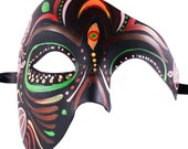 Dia de los Muertos Sugar Skull Phantom Mask, Day of the Dead Masks for Decor Halloween Masquerade Mask for Celebrations Remembrance