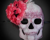 Day of the Dead Mask, Dia de los Muertos Mask, Sugar Skull Mask, Masquerade Mask for Halloween Costumes