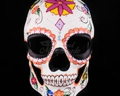 Day of the Dead Mask, Dia de los Muertos Mask, Masquerade Mask for Festivals, Halloween, Weddings and Costumes
