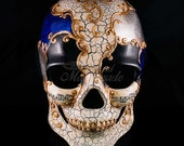 Mens Day of the Dead Mask, Dia de los Muertos Mask, Mans Skull Masquerade Mask for Halloween Costumes